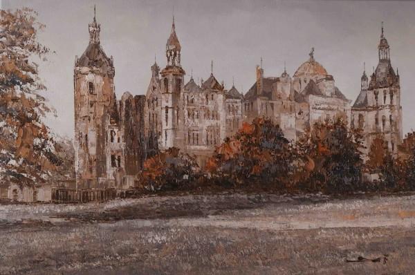 The Castle of Schwerin (Sepia)