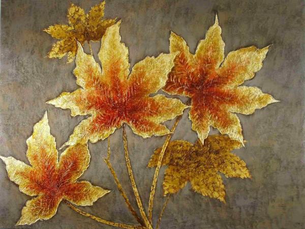 Goldene Ahornblätter