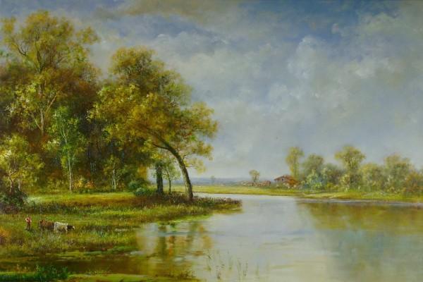 Weide am Fluss