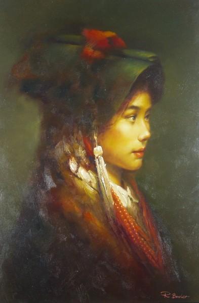 Portrait einer chinesischen Berglandbewohnerin