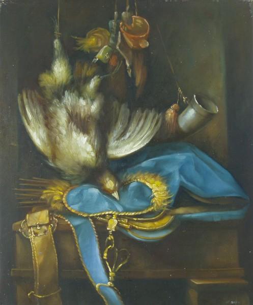 Trophäe eines Vogel-Jägers