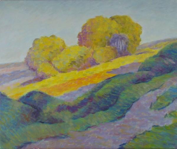 Kornfeld am Hügel
