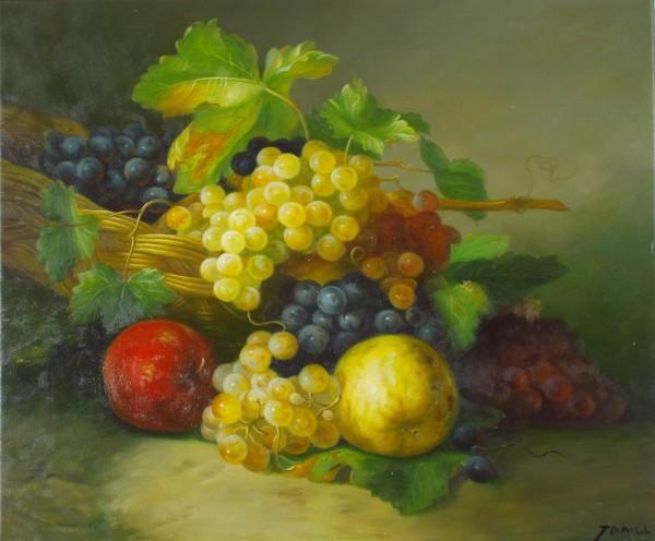 Stillleben mit Äpfeln und Weintrauben