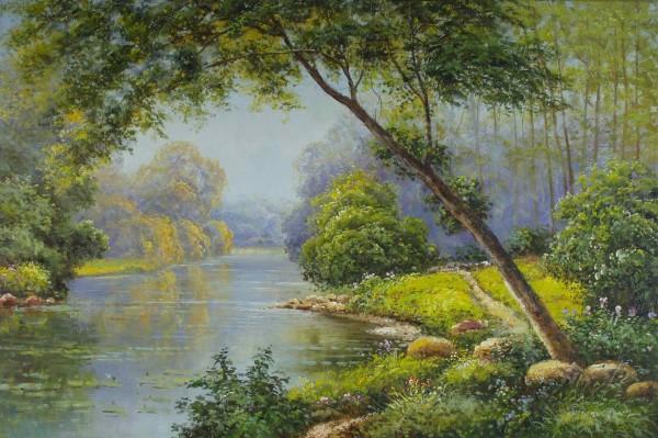 Wald am Fluss