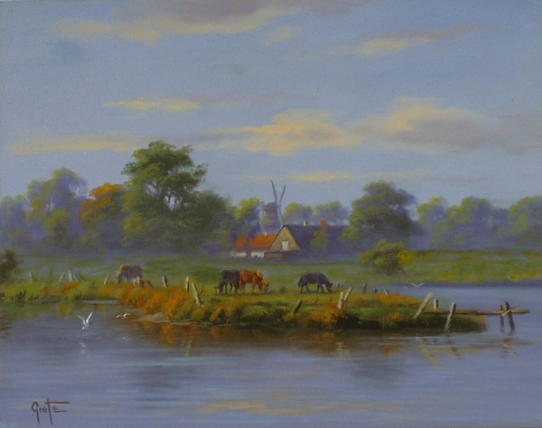 Pferdekoppel am See